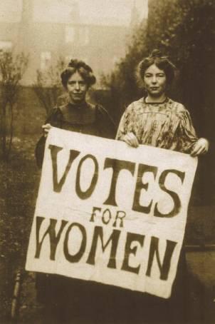 Mulheres não podiam votar, acredita?